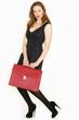 attraktive Frau mit Tasche