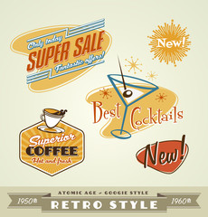Vintage retro emblems and labels