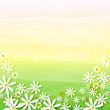 spring flowers in beige green background