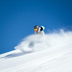 Caduta con snowboard