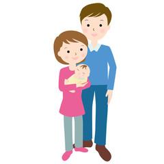 赤ちゃんとお父さんお母さん