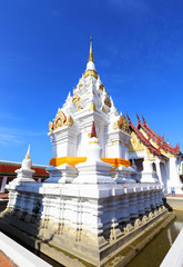 White pagoda at surat thani, thailand