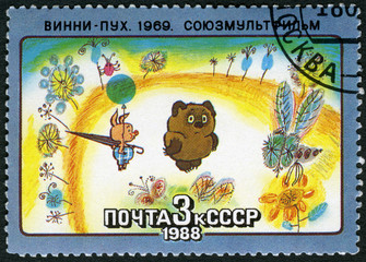 USSR - 1988: shows Winnie-the-Pooh, 1969