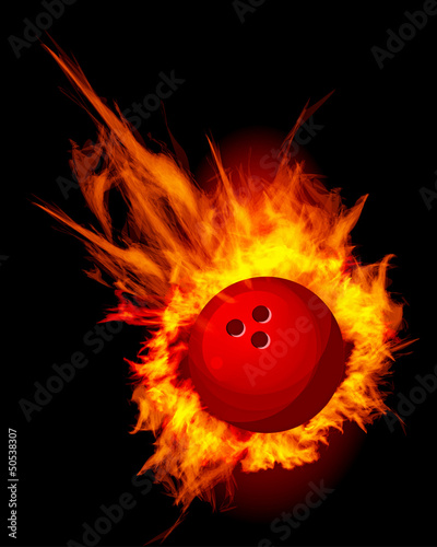 Bowling Fire Ball Vector