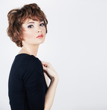 Young beauty model with short hair