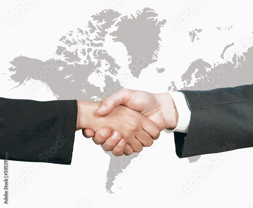Business world handshake