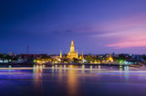 Twilight view of Wat Arun in Bangkok, Thailand