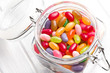 jelly beans in glass jar