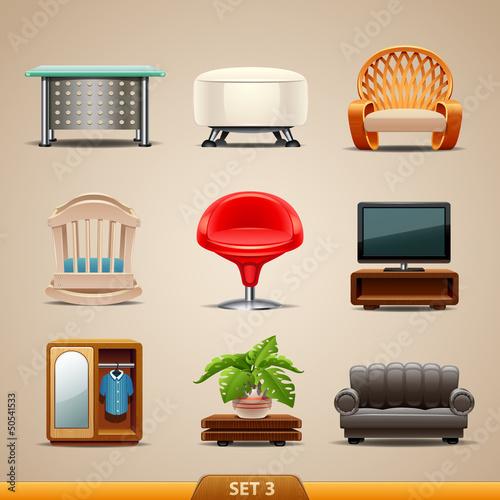 Furniture icons-set 3