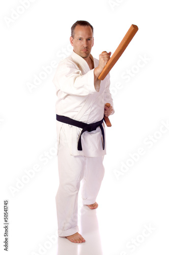 Man with tonfa