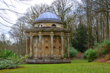 Temple of Apollo, Stourhead Garden in Spring