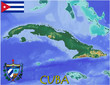 Cuba America Caribbean national emblem map symbol motto