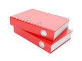 a red  ring binder