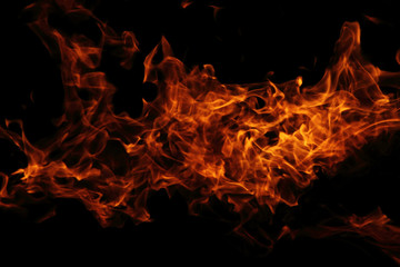 fire background in the night