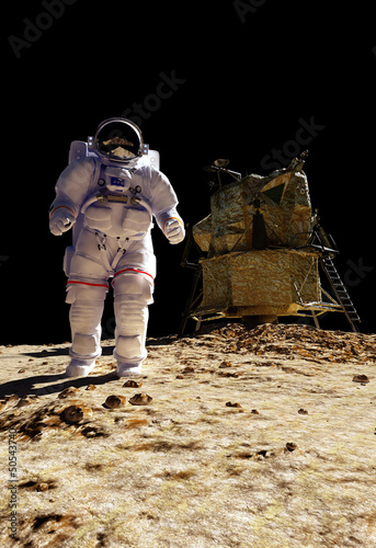 """The astronaut  """"Elements of this image furnished by NASA"""""""