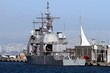 Ticonderoga class cruise docked in the port of Alicante; Spain.