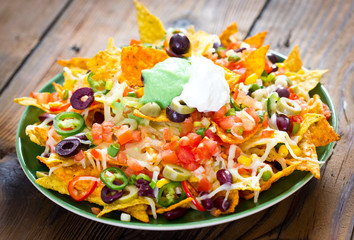 Nachos on the plate