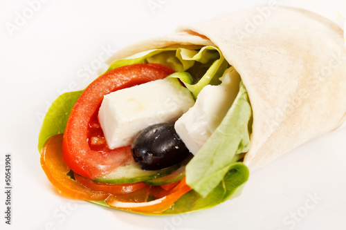 tortilla with vegetables