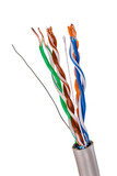 Network Cable CAT5 on white