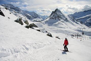 sciatore sulle piste