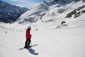 sciatore sulle piste - Gressoney