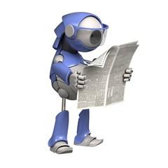 Robot reads a newspaper