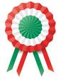 Kokarde Italien mit Stoffbändern