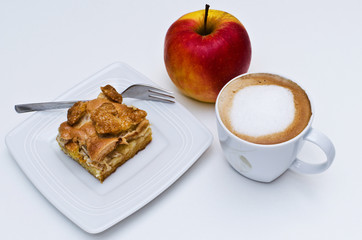 Apple Pie, apple and coffee