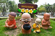 Buddha clay doll welcome
