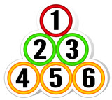 Circles with numbers vector presentation concept