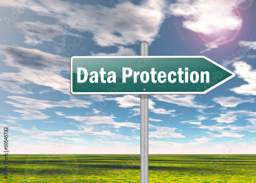 "Signpost ""Data Protection"""