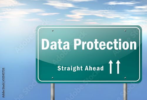 "Highway Signpost ""Data Protection"""