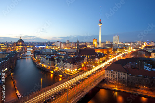 canvas print picture Berlin Panorama