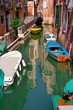 Small channel in Venice, full of boats