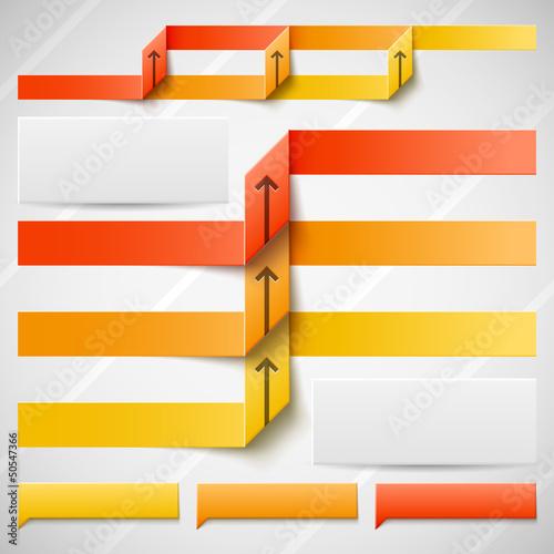 Orange elements of infographics