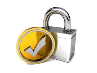 geprüfte Sicherheit gelb/gold