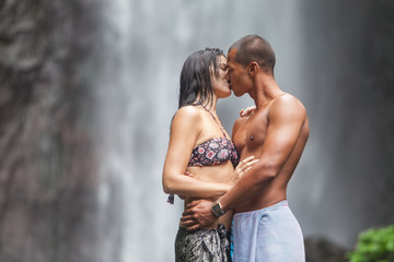 Couple at waterfall