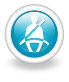 "Light Blue Icon ""Seat Belt"""
