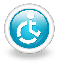 "Light Blue Icon ""Wheelchair Accessible"""