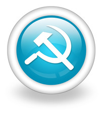 "Light Blue Icon ""Communism / Hammer & Sickle"""