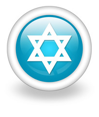 "Light Blue Icon ""Star Of David"""