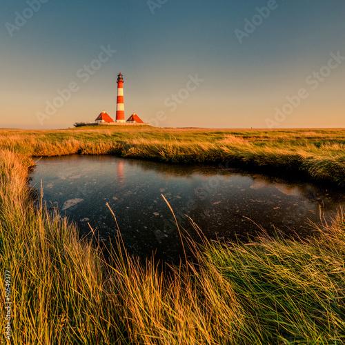 Fototapeten,leuchtturm,sonnenuntergang,schleswig-holstein,north sea