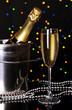 Celebratory champagne with wineglass