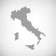 Italien Karte punktiert