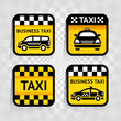 Taxi - set square stickers