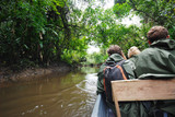 Paddling in rainforest, Amazon