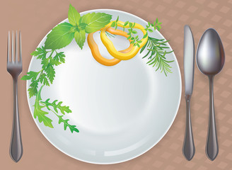 Tableware healthy food