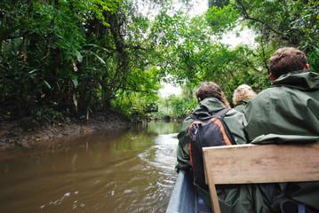 Paddling in rainforest, Amazon