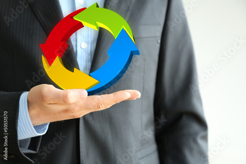 business solution hand