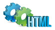 HTML industrial gears concept